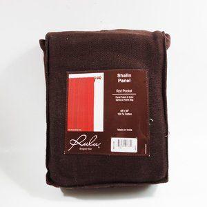 [3 for 15] Rulu Choclate Cotton Curtain Single